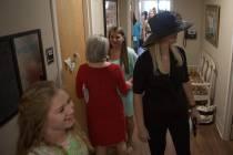Attendees tour the newly dedicated Alpha Delta Pi sorority house. (AJ Reynolds/Brenau University)