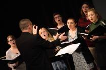 The Brenau Vocal Chamber Ensemble performs during the 4th Annual Women's Leadership Colloquium on Friday, March 17, 2017. (AJ Reynolds/Brenau University)