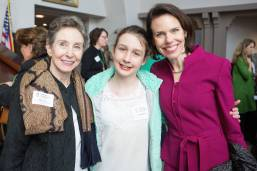 Catherine Dixon, right, with her daughter Sara Dixon and her mother Sally Finch during the 4th Annual Women's Leadership Colloquium on Friday, March 17, 2017. (AJ Reynolds/Brenau University)