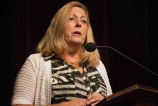 Brenau alumna and trustee Patricia Wolfe speaks during the 4th Annual Women's Leadership Colloquium on Friday, March 17, 2017. (AJ Reynolds/Brenau University)