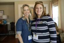 Alpha Delta Pi alumnae Michelle Clem Harven and Tyler Bradley during the 2017 Alumnae Reunion Weekend at Brenau University, Saturday, April 08, 2017. (Photo/ John Roark for Brenau University)