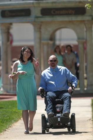Adriana Rivera and father Carlos Velazquez during the 2017 Alumnae Reunion Weekend at Brenau University, Saturday, April 08, 2017. (Photo/ John Roark for Brenau University)