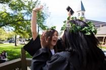 Madilynn Peck, a rising senior, celebrates her new senior status. (AJ Reynolds/Brenau University)