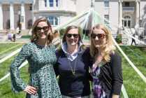 Mary Kathryn Wells, WC '00, Emmie Howard, WC '01, and Katie Mitchell, WC '03, pose for a photo. (AJ Reynolds/Brenau University)