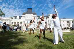 Brenau dancers perform during the homecoming celebrations at Brenau University. (AJ Reynolds/Brenau University)