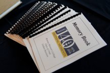 Memory books for the class of 1968 during Alumnae Reunion Weekend on Friday, April 13, 2018. (AJ Reynolds/Brenau University)