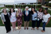 President Schrader and alumnae from 2008. (AJ Reynolds/Brenau University)
