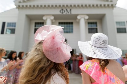 Phi Mu sorority open house (AJ Reynolds/Brenau University)