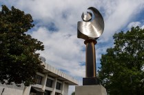 """Luminary 830,"" a kinetic flame sculpture by Mike Roig, is Brenau's most recent anonymous art donation."