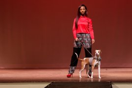The Elegant Kleidung Collection by Destiny Dingle in the Collections 2018 fashion show (AJ Reynolds/Brenau University)
