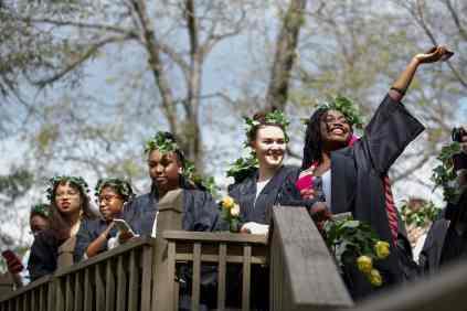 Senior students atop the Crow's Nest. (AJ Reynolds/Brenau University)