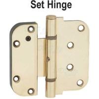 Hoppe - - Hoppe Set Hinge Polished Brass 8762439 - 850-8762439