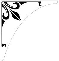 Etched Glass Corner Decals for windows, doors, mirrors and ...