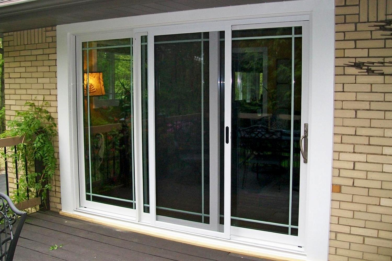 three panel patio doors window fits