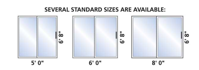 Standard Size Sliding Patio Doors