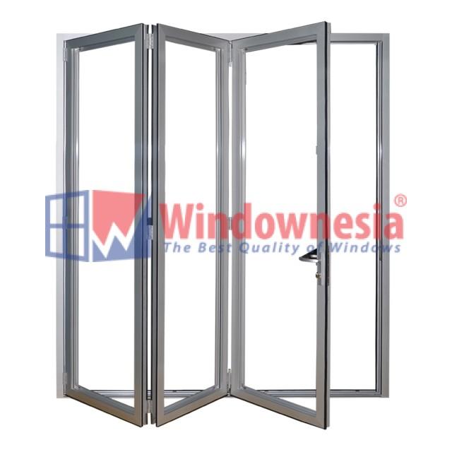 Pintu lipat aluminium tiga daun