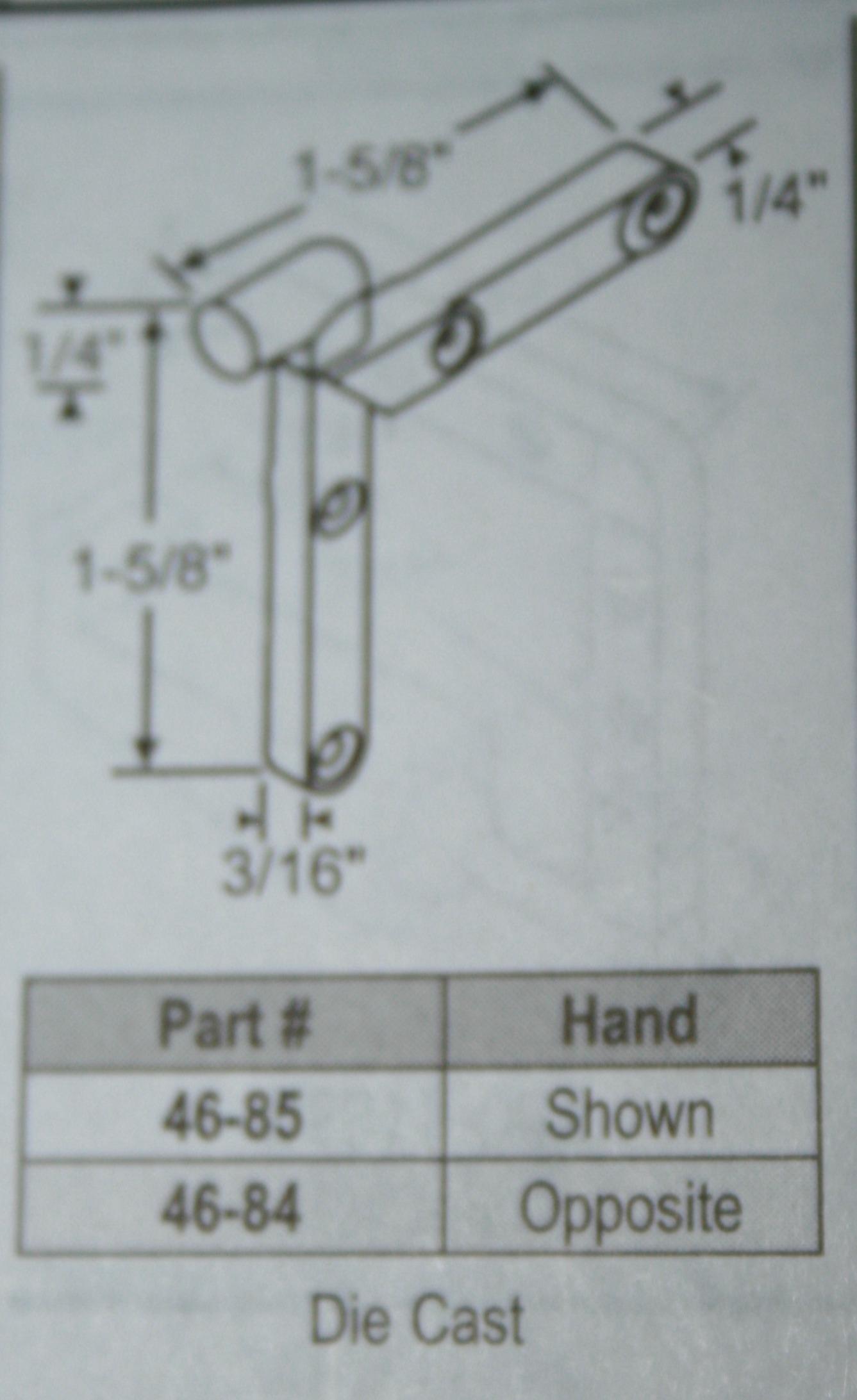 hight resolution of corner key 46 84 handed 1 5 8 x 1 5 8 die cast