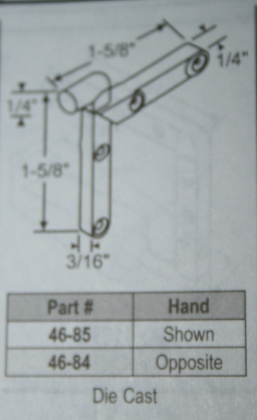 small resolution of corner key 46 84 handed 1 5 8 x 1 5 8 die cast
