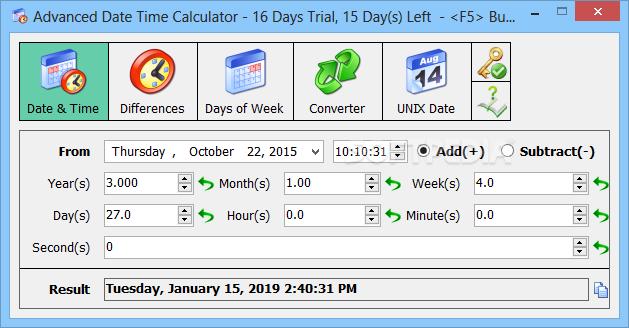 Advanced Date Time Calculator 9.1077 Keygen 2019 Download