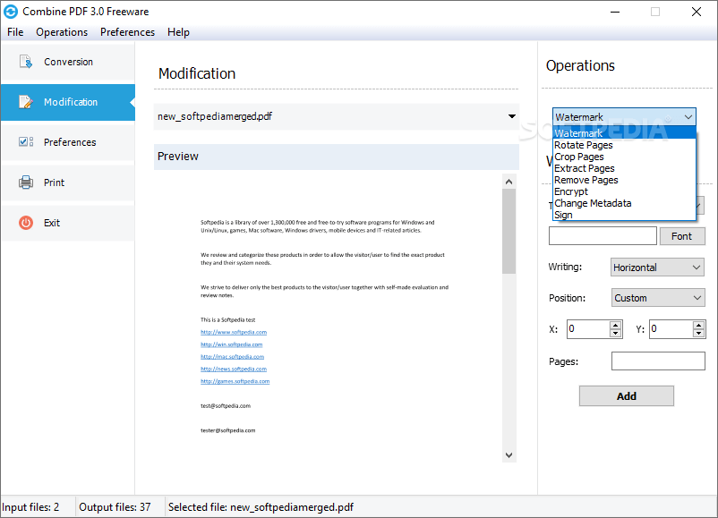 Download Combine PDF 3.7