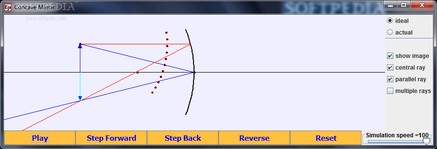 mirror ray diagram simulation mercury outboard wiring schematic download concave rays and time this is the main window of application