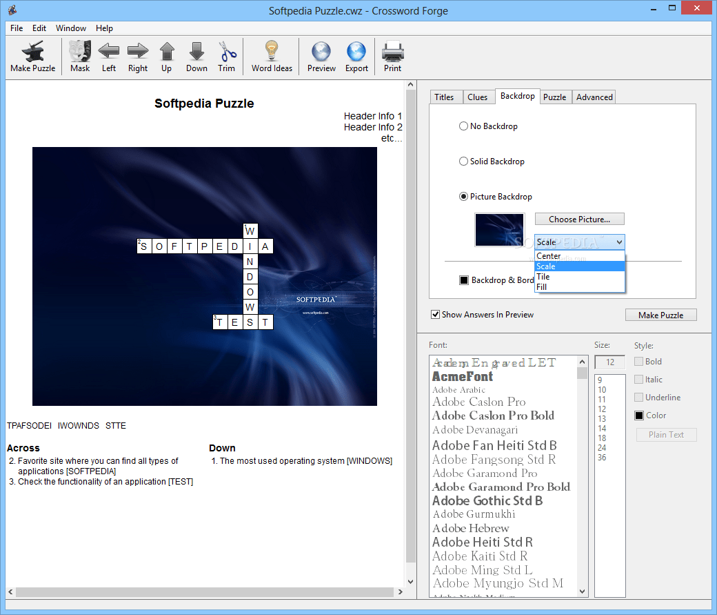 Download Crossword Forge 7 3