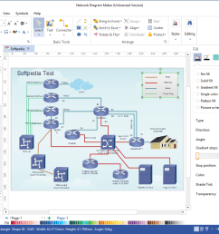 network diagram maker the application is specially designed to help you create comprehensive network schematics  [ 1274 x 837 Pixel ]