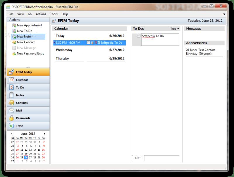 EssentialPIM Pro 8.54 Portable File 2019 Download Cracked Working