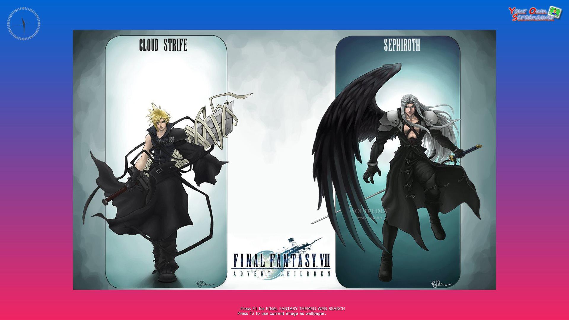 download final fantasy screensaver
