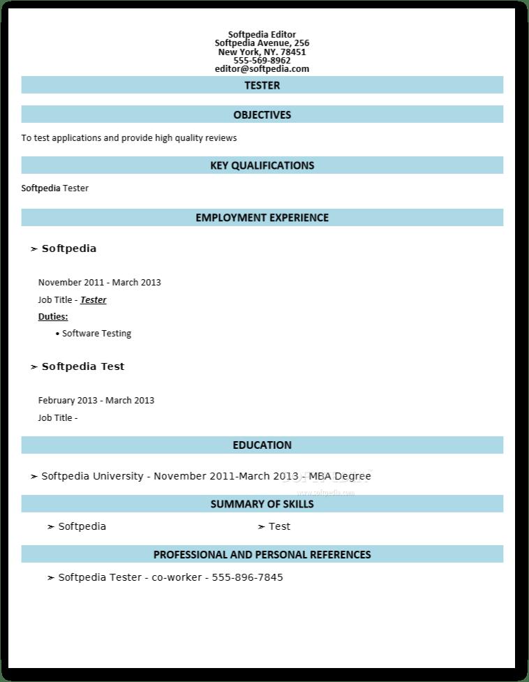 free resume builder docx