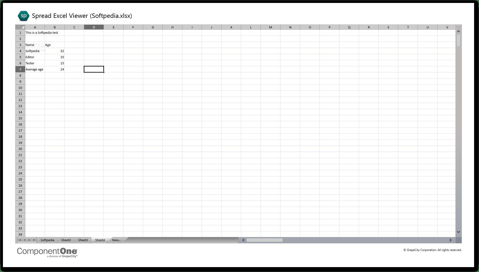 Download Componentone Spreadsheet Viewer 1 0 0 25