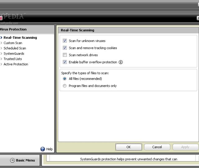 Mcafee Virusscan Screenshot 9