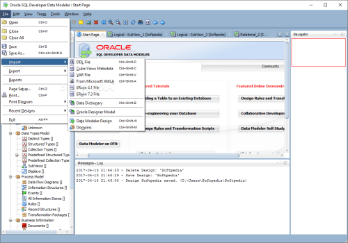 small resolution of  oracle sql developer data modeler oracle sql developer data modeler can import files from various