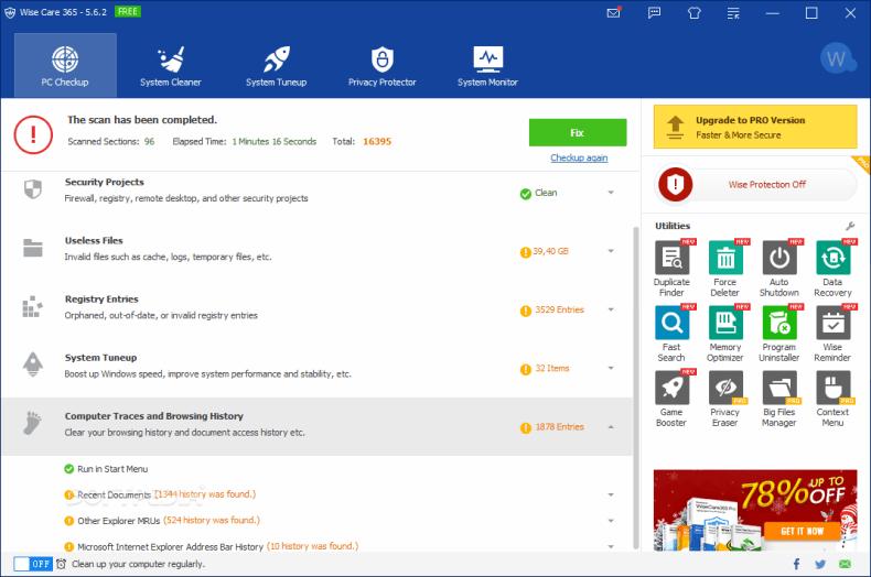 Download WiseCare 365 | Crack + License Key
