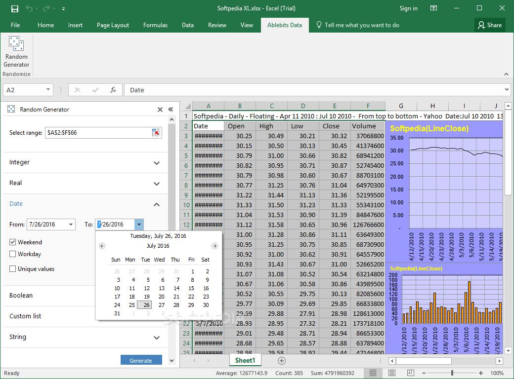 Download Random Generator For Microsoft Excel 18 1 101
