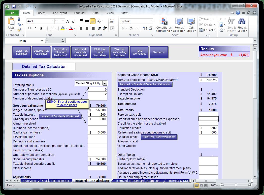 Download Simpleplanning Tax Calculator