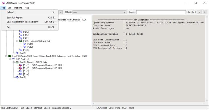 USB Device Tree Viewer 6.0.6000.20062 Free + Code