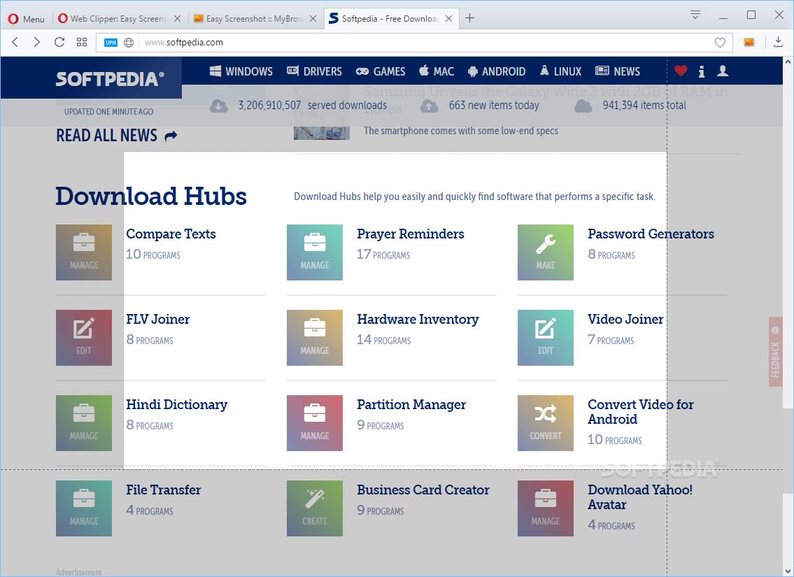 Download Web Clipper: Easy Screenshot for Opera 0.3.3
