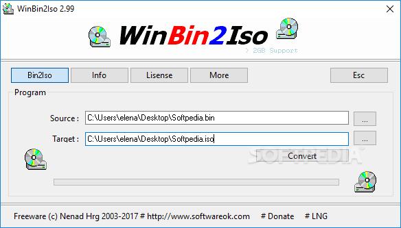WinBin2Iso 3.31 File Free