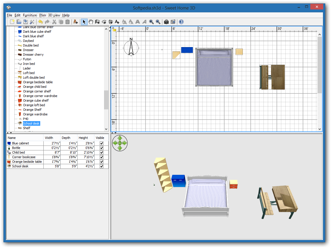 hight resolution of x sweet home 3d the main interface of sweet home 3d enables you to