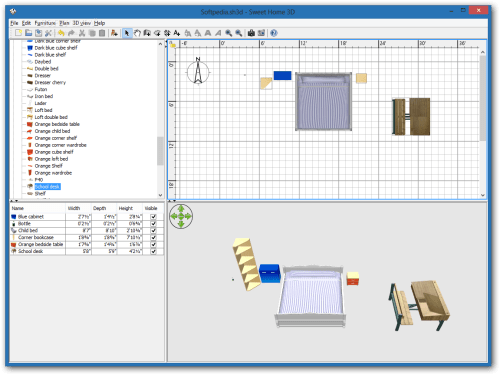 small resolution of x sweet home 3d the main interface of sweet home 3d enables you to