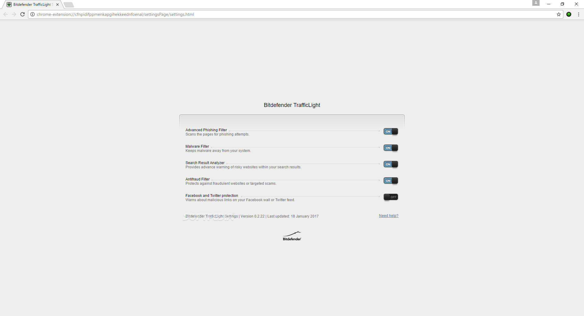 Download Bitdefender TrafficLight for Chrome 3.1.4
