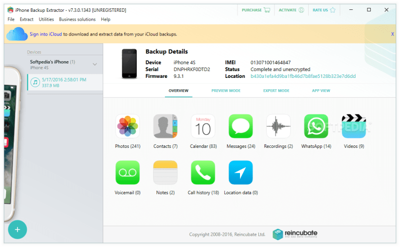 Download iPhone Backup Extractor 7.7.28 Build 3077