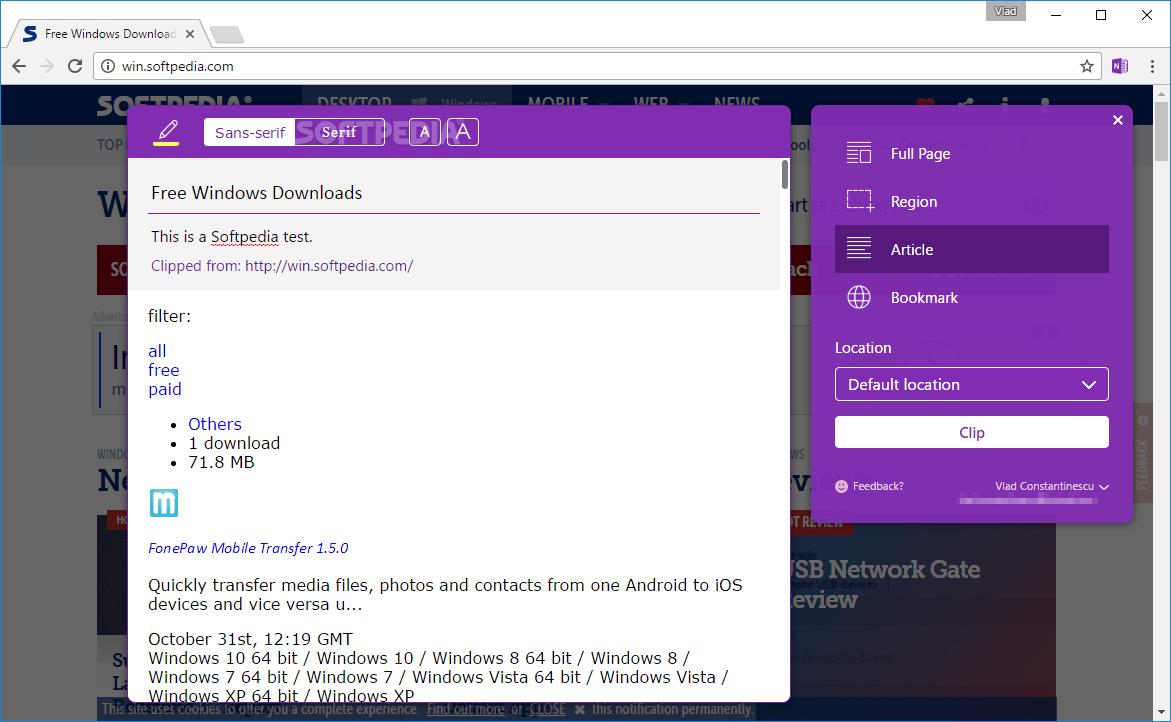Download OneNote Web Clipper for Chrome 3.8.0