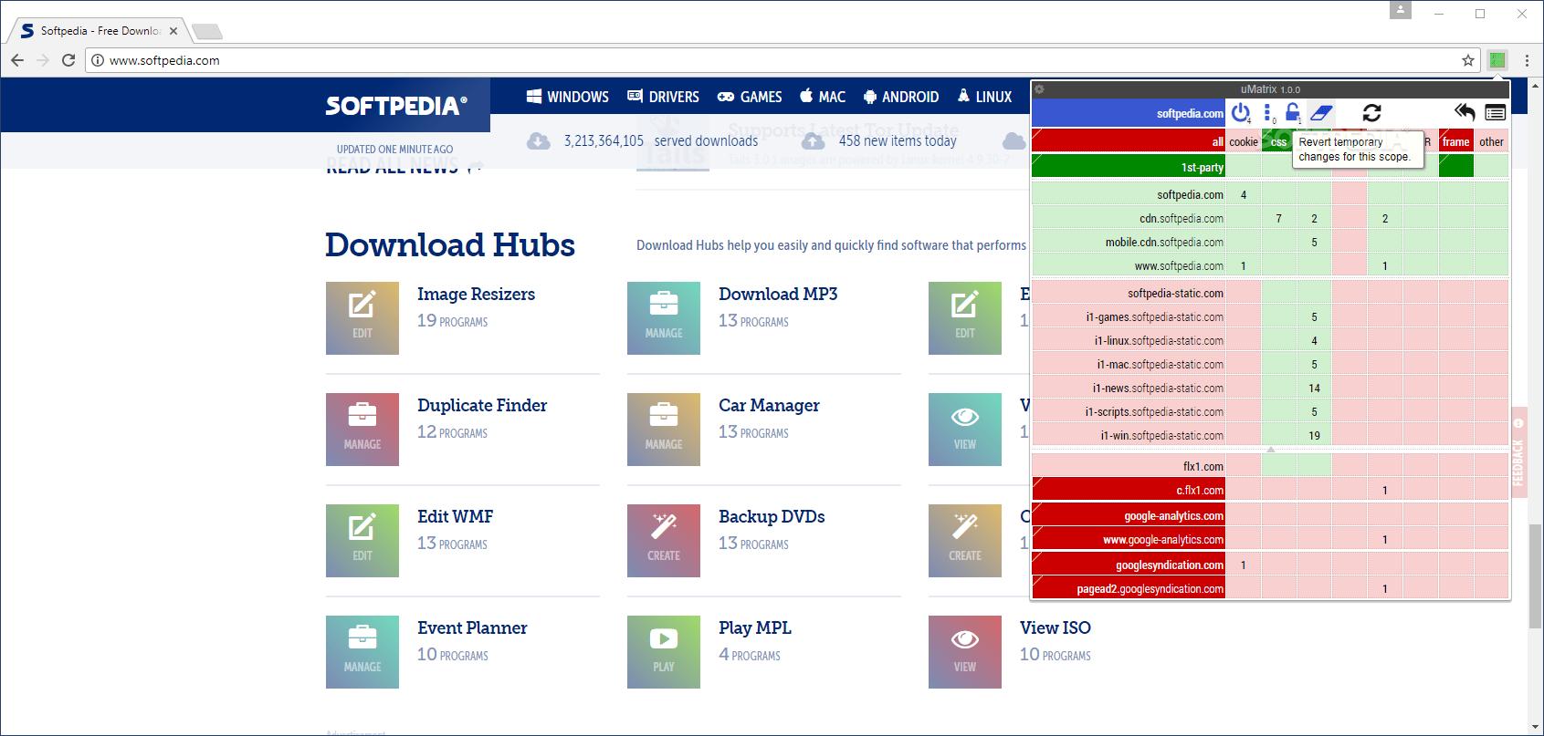 Download uMatrix for Chrome 1316  1317 Beta 2