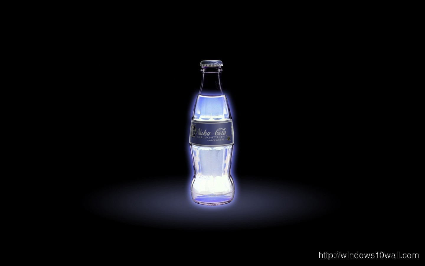 Follow the vibe and change your wallpaper every day! Light Bottles Coke Glow HD Wallpaper - windows 10 Wallpapers