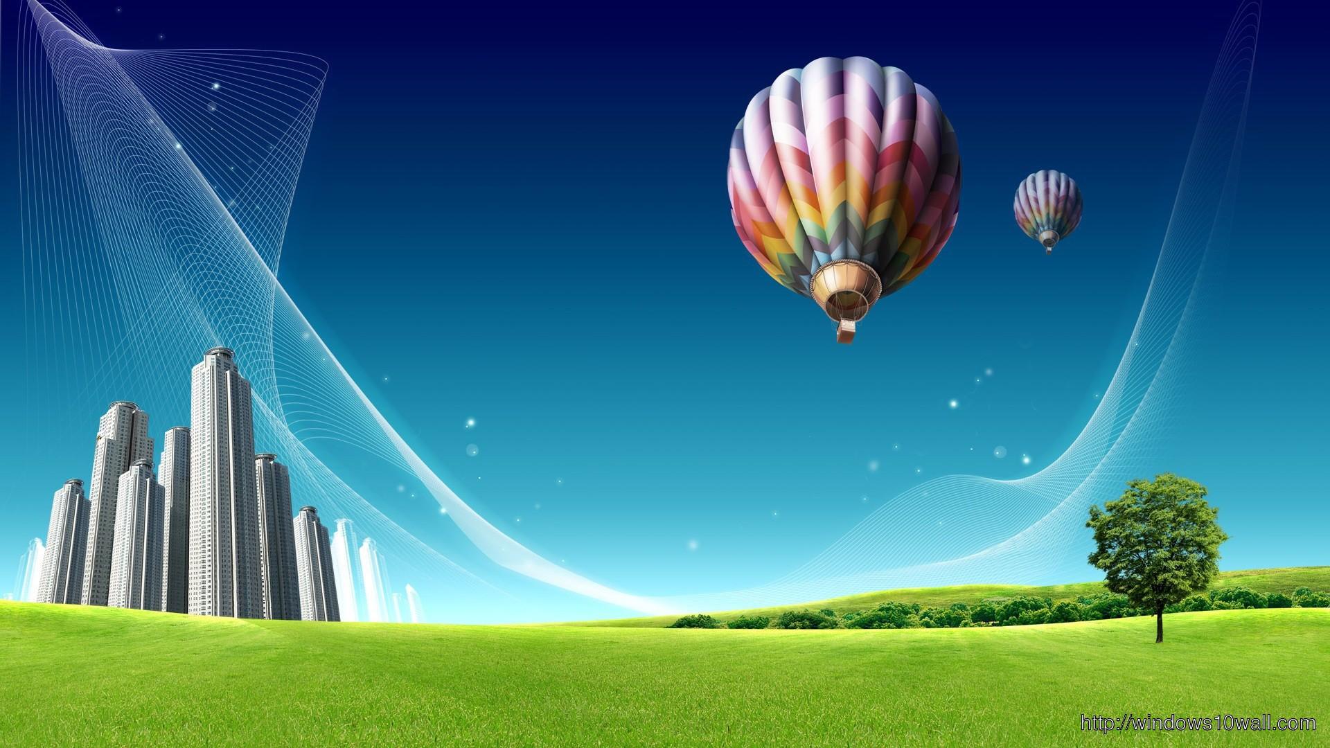 Cute Cartoon Girl Hd Wallpapers Hot Air Balloon Hd Widescreen Wallpaper ⋆ Windows 10