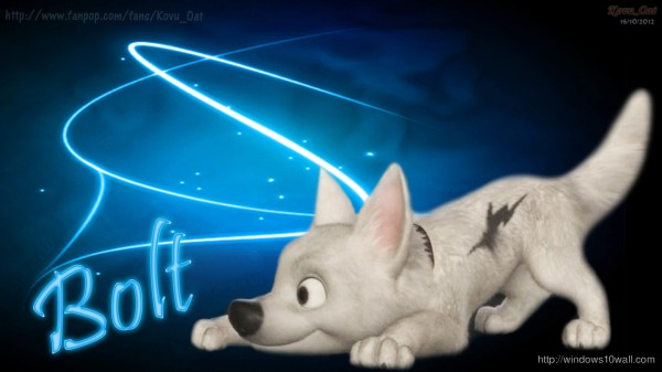 Bolt Dog Disney Cartoon Wallpaper - Windows 10 Wallpapers