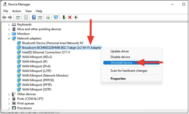 Fix Windows 11 WiFi Not Working by Reinstalling the Wi-Fi Driver