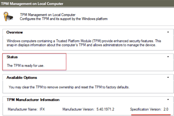 Check if Your System Has TPM 2.0